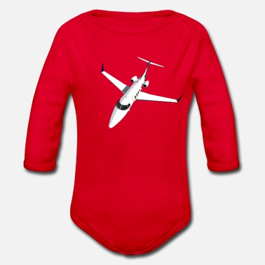 Jet Private Jet Airplane Jet Jet - Organic Long-Sleeved Baby Bodysuit