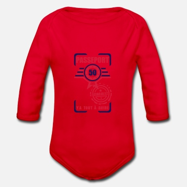 50 Years Old Birthday 50 years old birthday pass circulate - Organic Long-Sleeved Baby Bodysuit