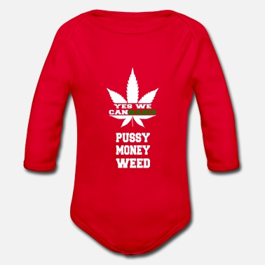 Yes We Cannabis Yes we Cannabis weiss - Baby Bio Langarmbody