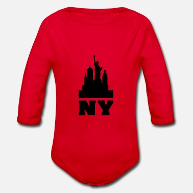 Ny NY - Organic Long-Sleeved Baby Bodysuit