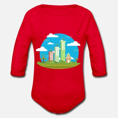 Environmentally Friendly Environmentally friendly energy production - Organic Long-Sleeved Baby Bodysuit