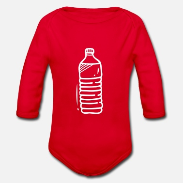 Drinking drink - Organic Long-Sleeved Baby Bodysuit