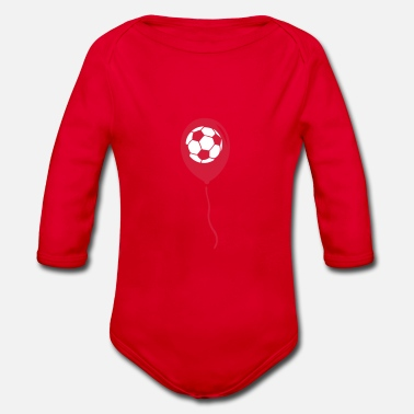 Ball Sport football balloon ball sport ball - Organic Long-Sleeved Baby Bodysuit