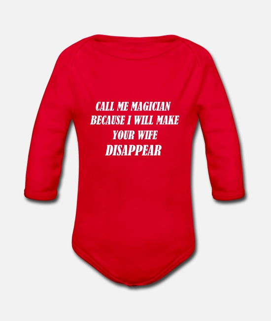 Chemo Baby Bodysuits - JOKE - Organic Long-Sleeved Baby Bodysuit red