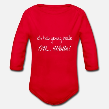Wolle Wolle - Baby Bio-Langarm-Body