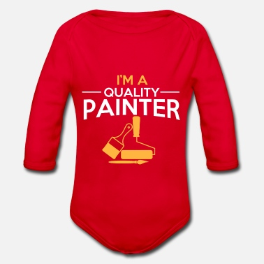 Painter Painter painter - Organic Long-Sleeved Baby Bodysuit