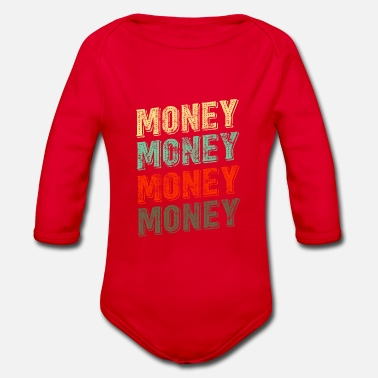 Money Money money money design - Organic Long-Sleeved Baby Bodysuit