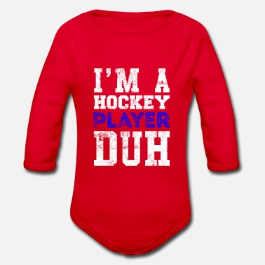 Cool Quote Hockey player quote Cool quote - Organic Long-Sleeved Baby Bodysuit