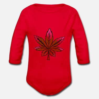 Canada Leaf Fall Canada leaf - Organic Long-Sleeved Baby Bodysuit