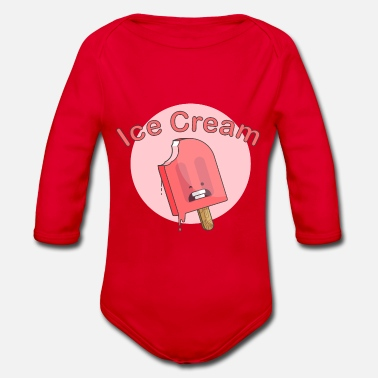 Ice cream on style - Ice Cream - Organic Long-Sleeved Baby Bodysuit