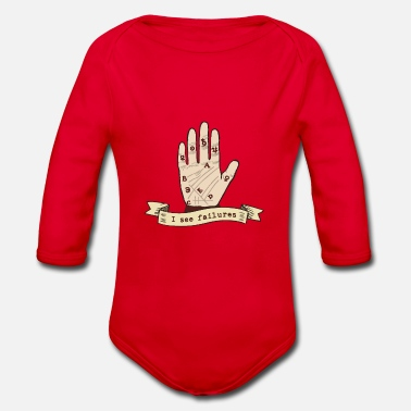 Esotheric funny palm reading - Organic Long-Sleeved Baby Bodysuit