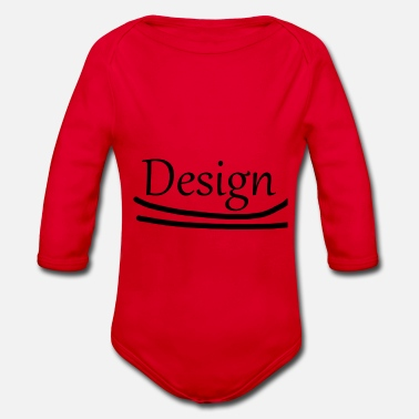 Design design - Organic Long-Sleeved Baby Bodysuit