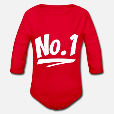 Number One number one - Organic Long-Sleeved Baby Bodysuit