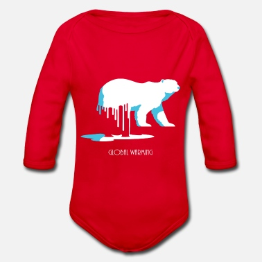 Global Warming ..réchauffement climatique - Organic Long-Sleeved Baby Bodysuit