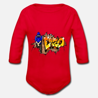 Enzo Graffiti GRAFFITI ENZO PRINTABLE ON EVERYTHING - Organic Long-Sleeved Baby Bodysuit