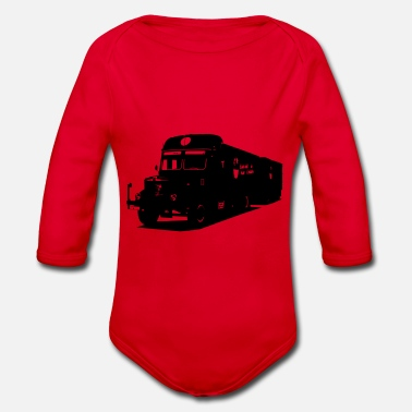 8000 Old truck - Organic Long-Sleeved Baby Bodysuit