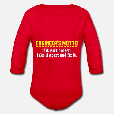 Motto Engineers motto - Organic Long-Sleeved Baby Bodysuit