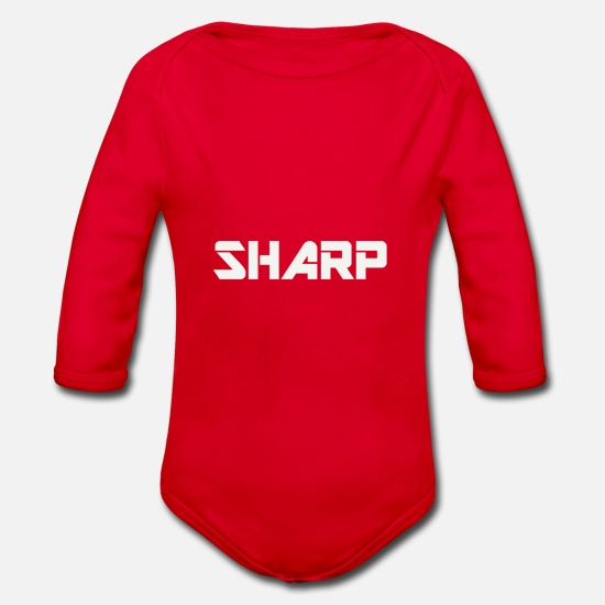Beautiful Baby Clothes - SHARP WEAR - Organic Long-Sleeved Baby Bodysuit red