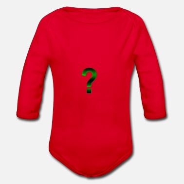 Question mark - Organic Long-Sleeved Baby Bodysuit