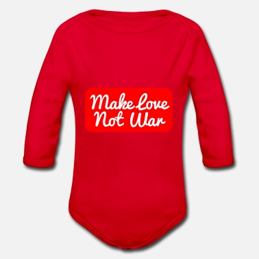 Make Love Not War Make Love Not War bianco - Body a manica lunga per neonati