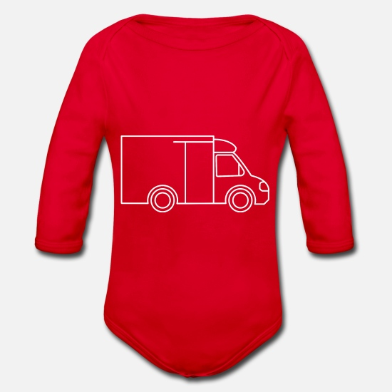 Delivery Baby Clothes - delivery service - Organic Long-Sleeved Baby Bodysuit red