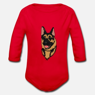 German German Shepherd German Shepherd gift idea - Organic Long-Sleeved Baby Bodysuit