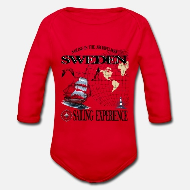 Sweden Sweden-Sweden - Organic Long-Sleeved Baby Bodysuit