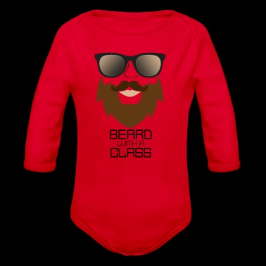 Beard with sunglasses - funny gift for man - Organic Longsleeve Baby Bodysuit