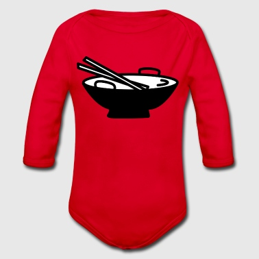 asian food - Organic Longsleeve Baby Bodysuit