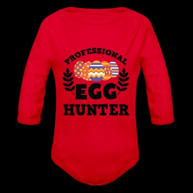 Awesome Professional Egg Hunter T-Shirt - Organic Longsleeve Baby Bodysuit