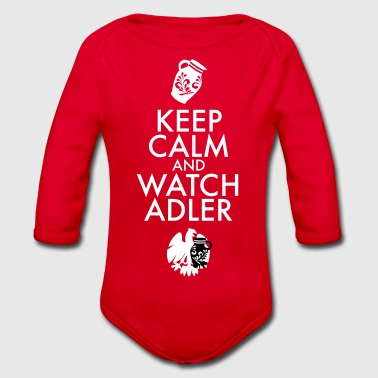 KEEP CALM AND WATCH ADLER - Baby Bio-Langarm-Body