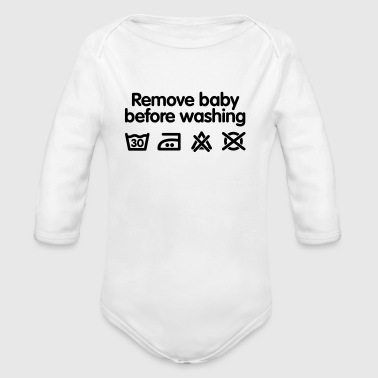 Remove baby before washing - Økologisk langermet baby-body