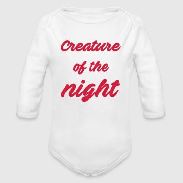 Creature of the night - Organic Longsleeve Baby Bodysuit