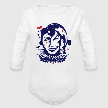 Playing card joker - Organic Longsleeve Baby Bodysuit