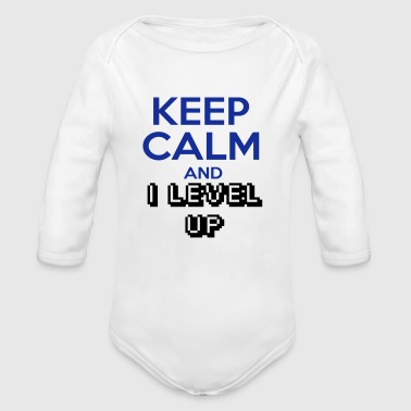 KEEP CALM AND ILEVELUP - Body bébé bio manches longues