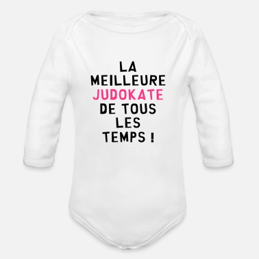 Judo Judo / Judoka / Judokate / Fight / Fighter / Sport - Body bébé bio manches longues