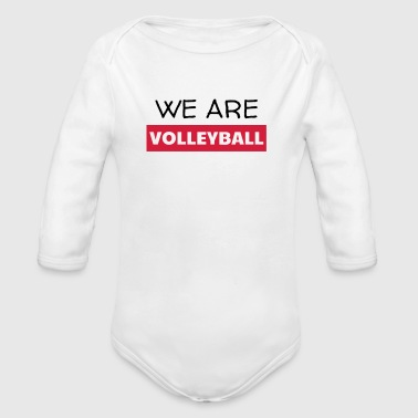 Volleyball - Volley Ball - Volley-Ball - Sport - Organic Longsleeve Baby Bodysuit