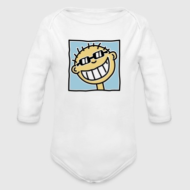A grinning Tourist - Organic Longsleeve Baby Bodysuit