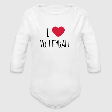 Volleyball - Volley Ball - Volley-Ball - Sport - Vauvan pitkähihainen luomu-body