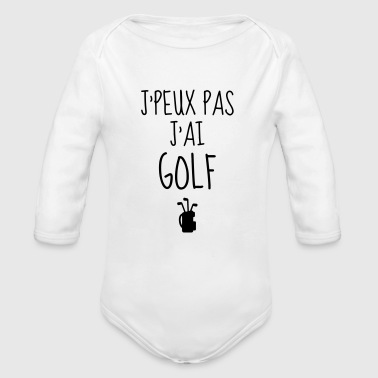 Golf - Sport - Golfer - Club - Green - Game - Play - Body bébé bio manches longues