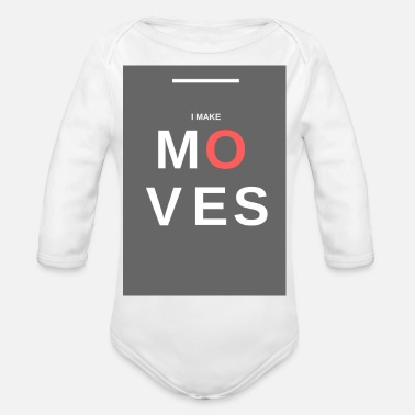 Move MOVES - Organic Longsleeve Baby Bodysuit