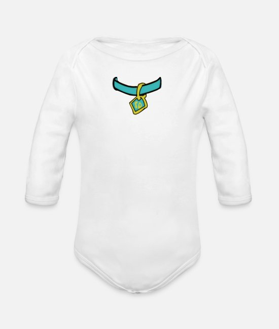 Drawing Baby Bodysuits - Scooby Medal - Organic Long-Sleeved Baby Bodysuit white