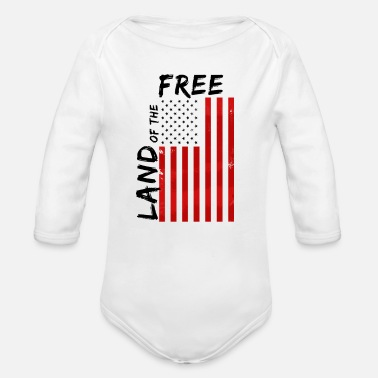 Land Land of freedom - Organic Long-Sleeved Baby Bodysuit