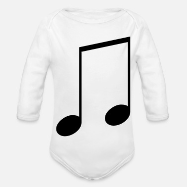 Notes Note - Organic Long-Sleeved Baby Bodysuit