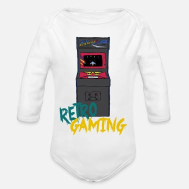 Retrogaming retrogaming - Økologisk langærmet babybody