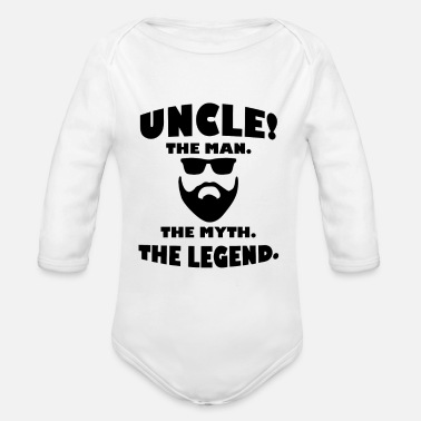 Uncle Uncle Legend Best Uncle Gift - Organic Long-Sleeved Baby Bodysuit