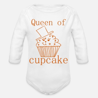 Cake Queen of Cupcake / Sayings / Trend - Organic Long-Sleeved Baby Bodysuit