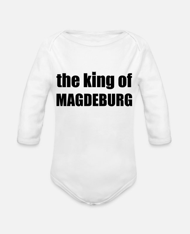Proud Baby Bodysuits - Magdeburg - Organic Long-Sleeved Baby Bodysuit white