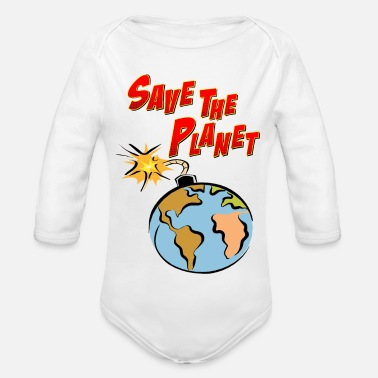 Save The Planet - Body a manica lunga per neonati
