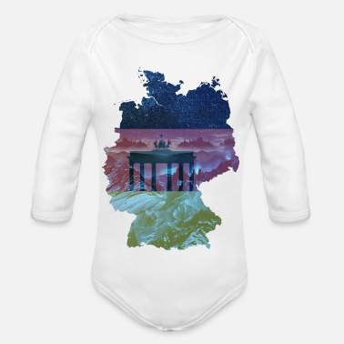 Fall Of The Wall Germany - Organic Long-Sleeved Baby Bodysuit